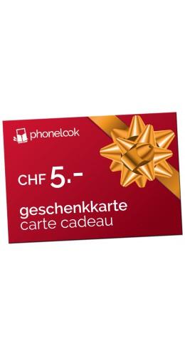 Carte cadeau CHF 5.-
