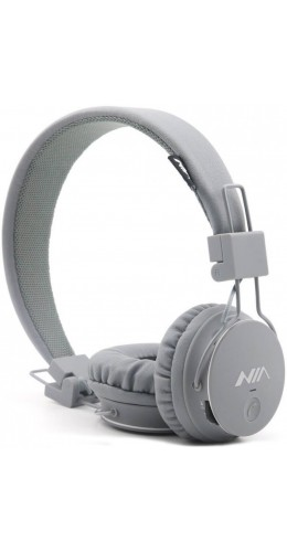 Casque Bluetooth NIA X3 gris