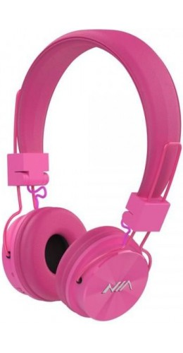 Casque Bluetooth NIA X3 rose