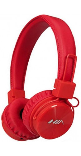 Casque Bluetooth NIA X3 rouge