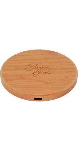 Chargeur sans-fil 10W Fast Charge en bois véritable Eleven Wood Cherry