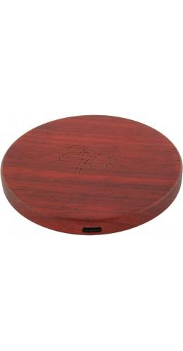 Chargeur sans-fil 10W Fast Charge en bois véritable Eleven Wood Rosewood