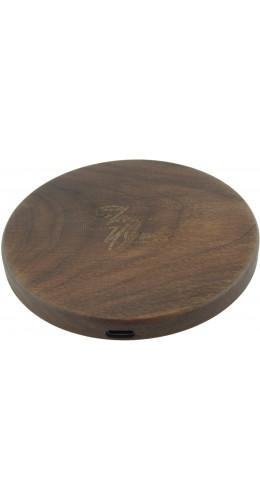 Chargeur sans-fil 10W Fast Charge en bois véritable Eleven Wood Walnut