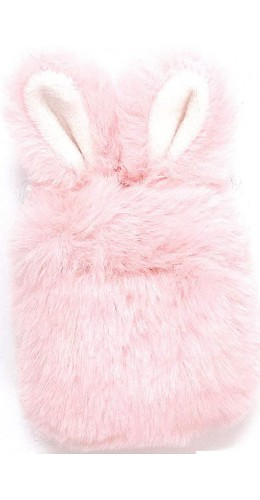 Coque AirPods 1 / 2 - Fluffy lapin  rose