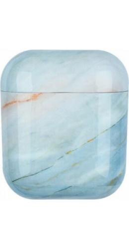 Coque AirPods 1 / 2 - Marble bleu clair