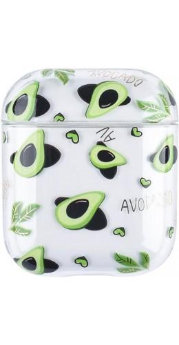 Coque AirPods 1 / 2 - Plastique transparent avocats