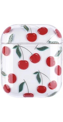 Coque AirPods 1 / 2 - Plastique transparent cerises