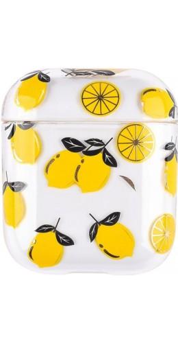 Coque AirPods 1 / 2 - Plastique transparent citrons