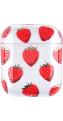 Coque AirPods 1 / 2 - Plastique transparent fraises