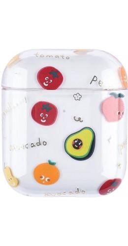 Coque AirPods 1 / 2 - Plastique transparent multifruits