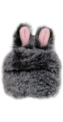 Coque AirPods Pro - Fluffy lapin  gris