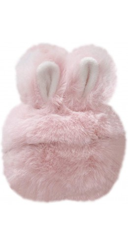 Coque AirPods Pro - Fluffy lapin  rose
