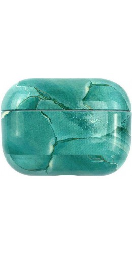 Coque AirPods Pro - Marble turquoise