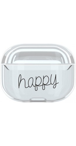 Coque AirPods Pro - Plastique transparent Happy