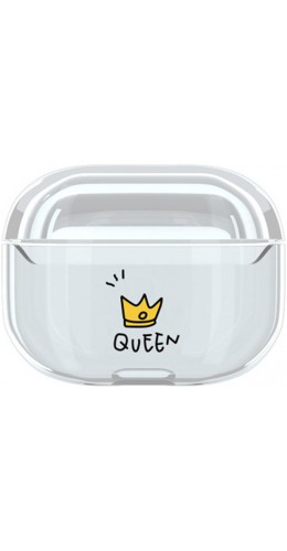 Coque AirPods Pro - Plastique transparent Queen