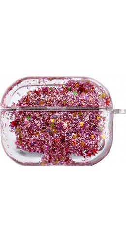 Coque AirPods Pro - Water Stars & Strass rose