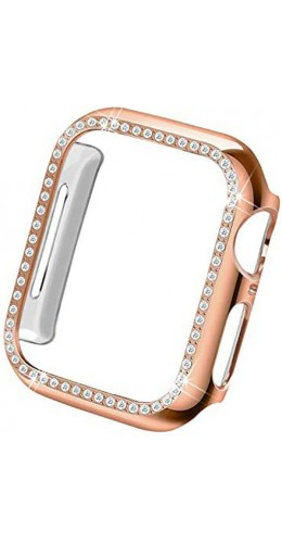 Coque Apple Watch 44mm - Strass or rose