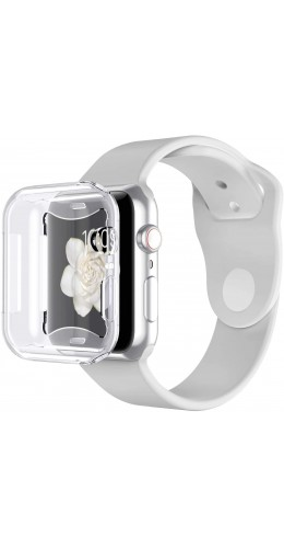 Coque Apple Watch 44mm - Gel intégral transparent