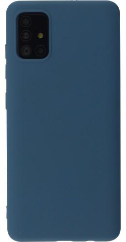 Coque Samsung Galaxy A52 - Soft Touch bleu foncé