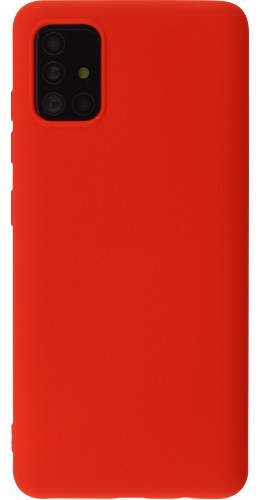Coque Samsung Galaxy A52 - Soft Touch rouge
