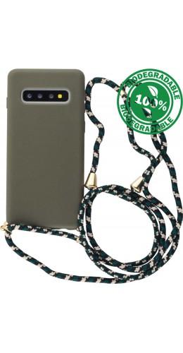 Coque Samsung Galaxy S10 - Bio Eco-Friendly Lacet vert foncé