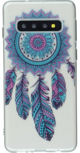 Coque Samsung Galaxy S10 - Gel Dreamcatcher plumes