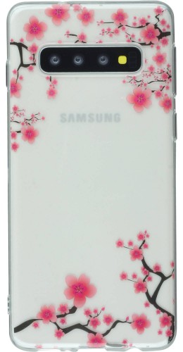Coque Samsung Galaxy S10 - Gel petites fleurs