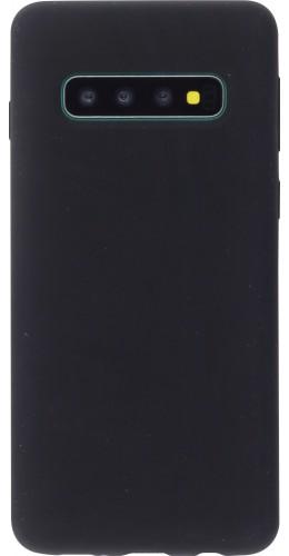 Coque Samsung Galaxy S10 - Silicone Mat noir