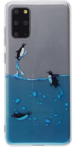 Coque Samsung Galaxy S20+ - Clear Logo Pingouins