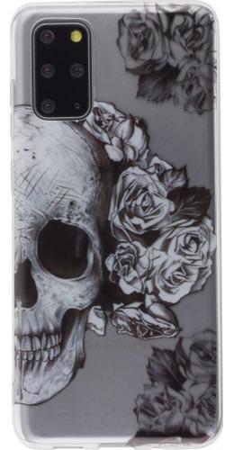 Coque Samsung Galaxy S20+ - Clear crâne roses