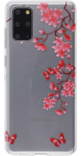 Coque Samsung Galaxy S20+ - Gel fleurs papillon