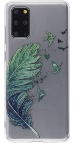 Coque Samsung Galaxy S20+ - Gel plume oiseaux