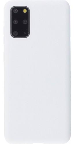 Coque Samsung Galaxy S20+ - Silicone Mat blanc