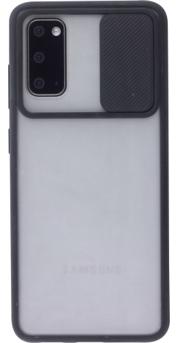 Coque Samsung Galaxy S20+ - Caméra Clapet Blur noir