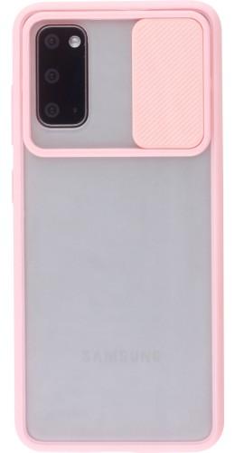 Coque Samsung Galaxy S20 - Caméra Clapet Blur rose