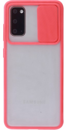 Coque Samsung Galaxy S20 - Caméra Clapet Blur rouge