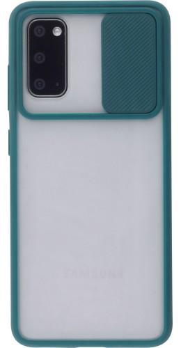 Coque Samsung Galaxy S20 - Caméra Clapet Blur vert
