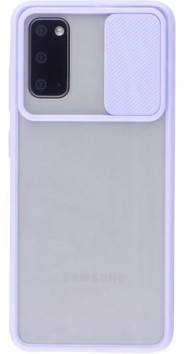 Coque Samsung Galaxy S20+ - Caméra Clapet Blur violet