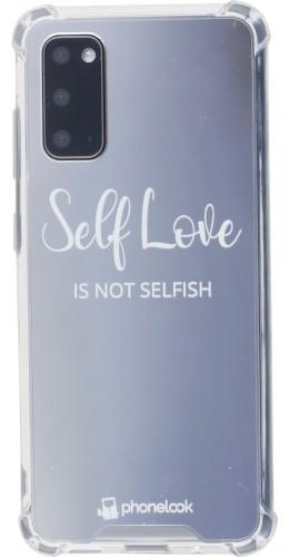 Coque Samsung Galaxy S20 - Miroir Self Love