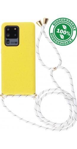 Coque Samsung Galaxy S20 Ultra - Bio Eco-Friendly Lacet jaune