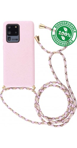 Coque Samsung Galaxy S20 Ultra - Bio Eco-Friendly Lacet rose