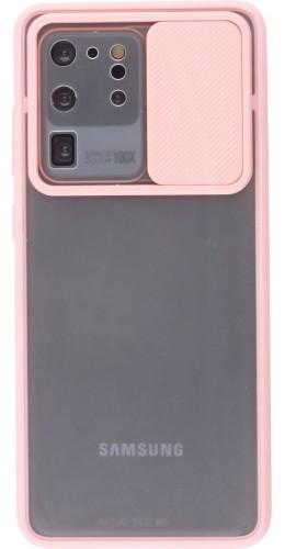 Coque Samsung Galaxy S20 Ultra - Caméra Clapet Blur rose