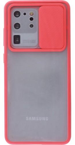 Coque Samsung Galaxy S20 Ultra - Caméra Clapet Blur rouge