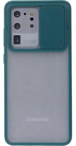 Coque Samsung Galaxy S20 Ultra - Caméra Clapet Blur vert