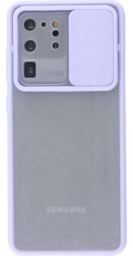 Coque Samsung Galaxy S20 Ultra - Caméra Clapet Blur violet