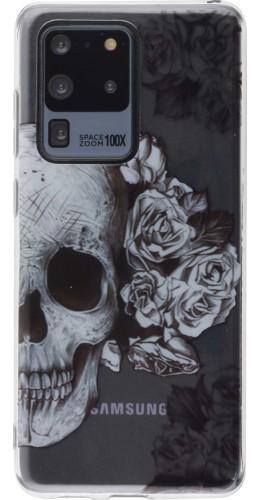 Coque Samsung Galaxy S20 Ultra - Clear crâne roses