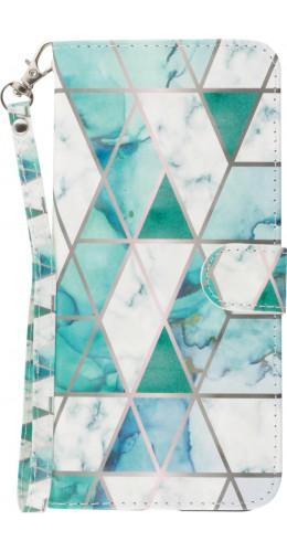 Coque Samsung Galaxy S20 Ultra - Flip 3D Triangle Marbre