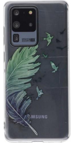 Coque Samsung Galaxy S20 Ultra - Gel plume oiseaux