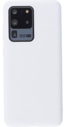 Coque Samsung Galaxy S20 Ultra - Silicone Mat blanc