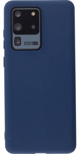 Coque Samsung Galaxy S20 Ultra - Silicone Mat bleu foncé